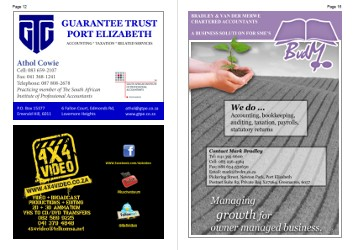 Printed Christian Business Directory centre pages