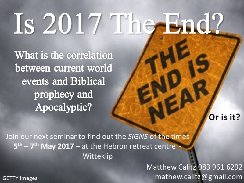 Is 2017 the end?  The end is near ... or is it?