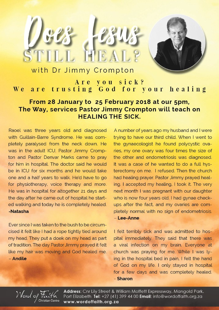 Does Jesus Still Heal? ... with Dr Jimmy Crompton