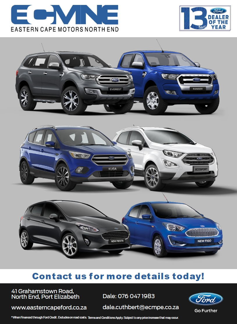 EASTERN CAPE MOTORS NORTH END 13 times Ford Dealer of the Year Everest - Ranger -