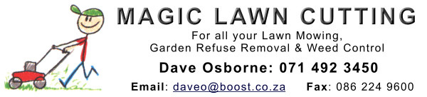 Magic Lawn Cutting - Dave Osborne 071 492 3450