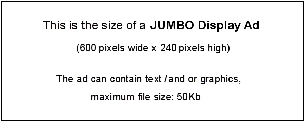 Template for Jumbo Display Ad - Size 600 x 240 pixels