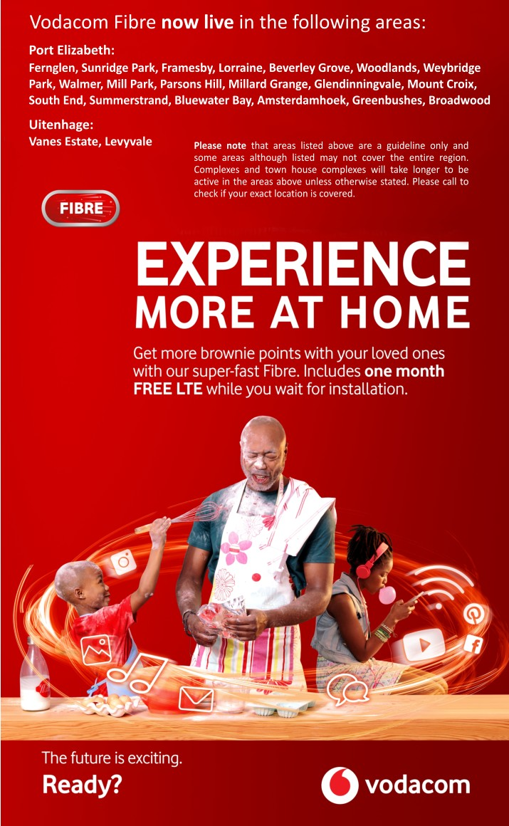 Vodacom Fibre now live in the following areas: