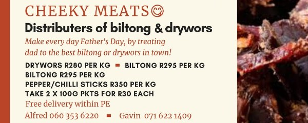 Cheeky Meats - Distributers of biltong and drywors - Alfred 060 353 6220